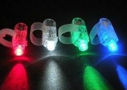 magie grandes illusions Promotion Cadeaux de Noël LED Brillant Bague Lumières Rave Party Glow 4x Couleur Enfants jouets livraison gratuite