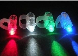 Regalos de navidad LED luces brillantes del anillo de dedo Rave Party Glow 4x Color para niños juguetes envío gratis
