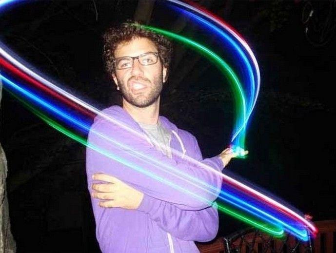 4x Cor LED laser dedo feixes de festa Light-up anel de dedo luzes laser com pacote de bolha