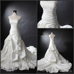 Wholesale Images Decoration Wedding - 2016 Custom made Strapless backless Cute Bust Decoration Floral Wedding Dresses Beads Applique Bridal Gowns Dresses