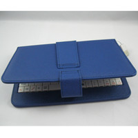 Wholesale Colorful Keyboard Tablet Covers - Colorful Folded Leather Case Cover With USB Keyboard Stand For 7 inch Tablet PC Epad DHL Free Shipping 15pcs
