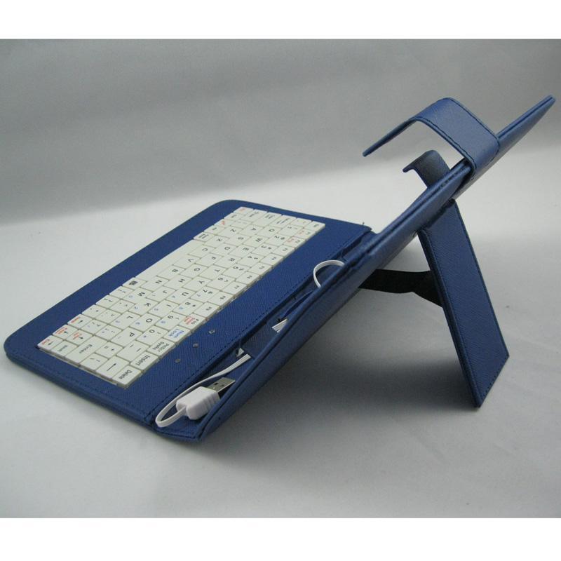 Caisse en cuir pliée colorée avec le support de clavier d'Usb pour 7
