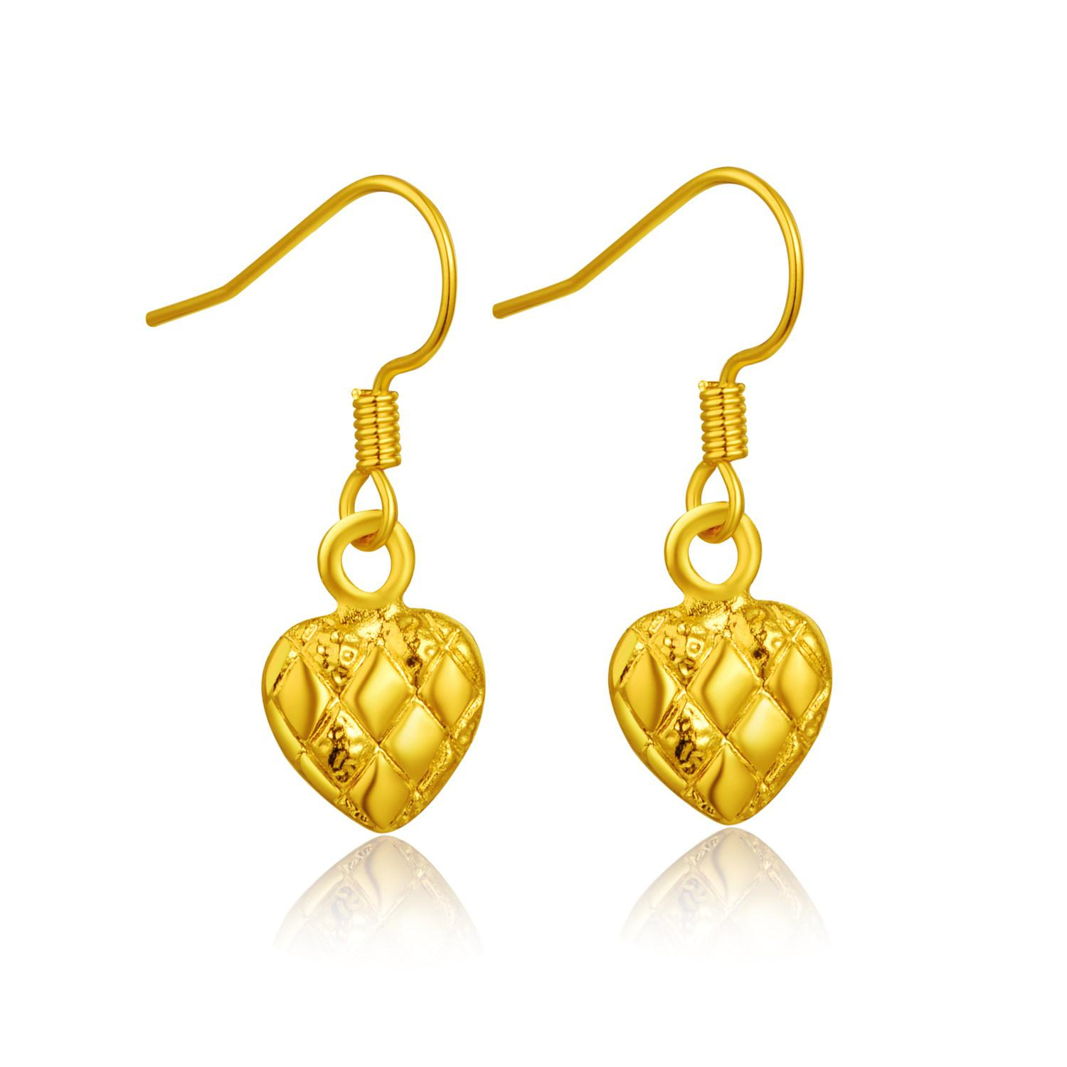 p heart round diamond earrings wh gold small shaped pave