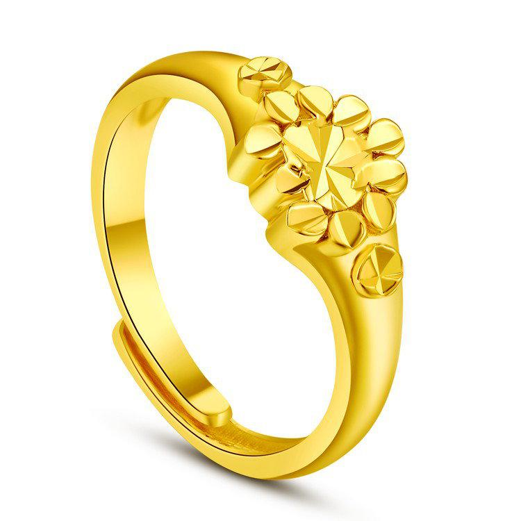 New Arrivals Ladies Ring 24K Gold Plated Plated Expensive Wedding
