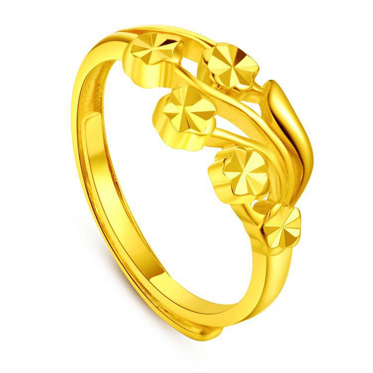 Gold-plated Rings M Word Delicate Flower Models Female Models ...