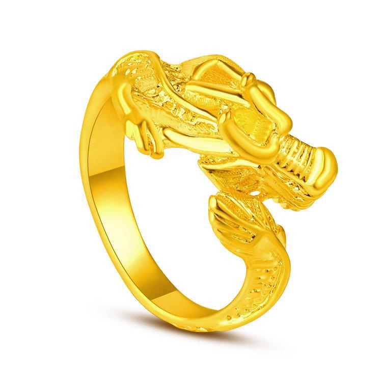 New Models Yunnan Alluvial Gold Dragon Jewelry Imitation Gold 999