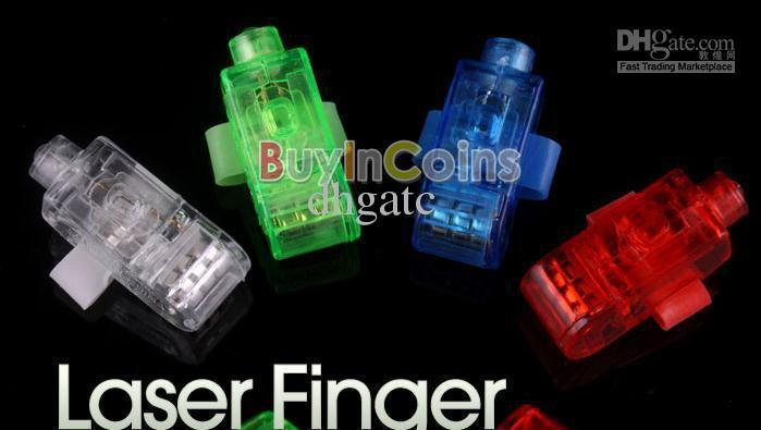 Christmas gifts LED Bright Finger Ring Lights Rave Party Glow 4x Color kids toys free shipping