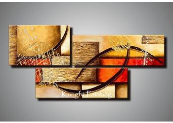 Charming 2018 100% Handmade Modern 3 Panel Wall Art Canvas Abstract Oil Painting  Home Deco Gift Com3732 From Kungfuart, $49.25 | Dhgate.Com