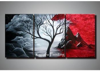 65f2fccc3dd 2019 100% Handmade Tree Oil Goods Modern Abstract Canvas Group Paintings  Home Deco Gift Com3416 From Fineart