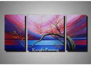 2018 100 handmade modern 3 panel wall art canvas abstract natural