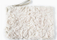 Cheap Lady Clutch Bags Cheap Fashion Handbags Lace Rose Flower Noir Blanc Color Mix 2013 4pcs Lot Livraison gratuite 0531B14