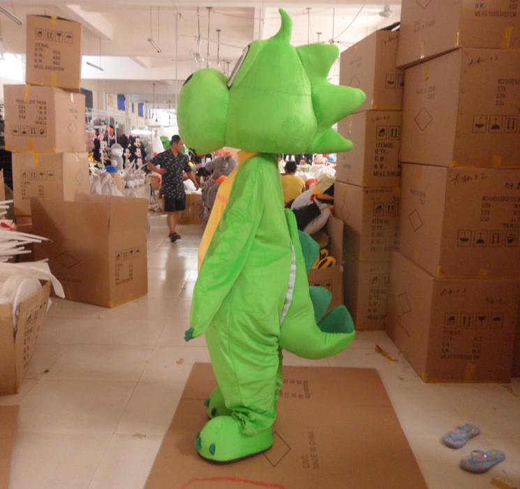Trajes da mascote dinossauro verde fantasias de carnaval frete grátis