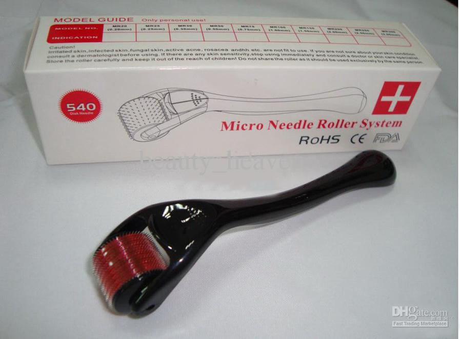 20 pçs / lote Dermaroller 540 Agulhas Para Cuidados Com A Pele Facial Micro Agulha Derma Roller