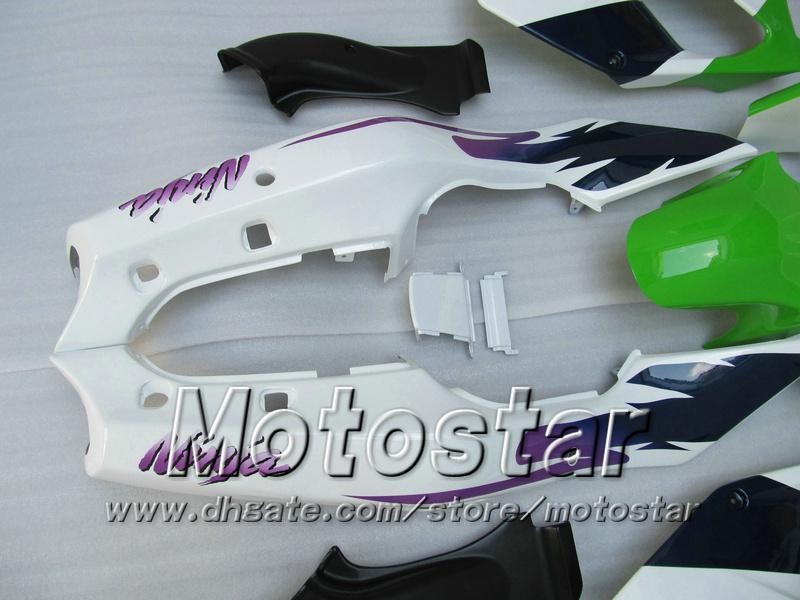 Grüne Verkleidung für KAWASAKI Ninja ZX-6R 94-97 ZX 6R 1994-1997 ZX6R 94 95 96 97 1994 1995 1996 1997 Karosserieverkleidungen