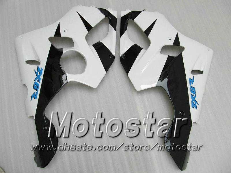 Kit de carenado de carrocería blanco PARA KAWASAKI Ninja ZX-6R 94-97 ZX 6R 1994 1995 1996 1997 ZX6R 94 95 96 97 carenados zx6r