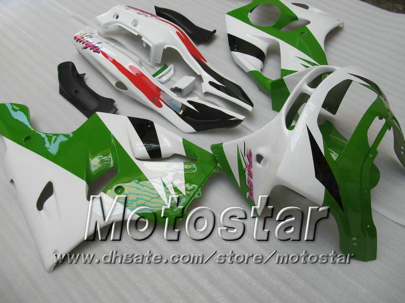 Green white ABS fairings for KAWASAKI Ninja ZX-6R 94-97 ZX 6R 1994-1997 ZX6R 94 95 96 97 1994 - 1997 full fairings