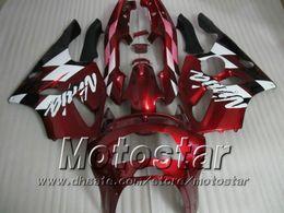 94 Kawasaki Fairing Kits Canada - Red white black fairings for KAWASAKI Ninja ZX-6R 94-97 ZX 6R 1994 1995 1996 1997 ZX6R fairings kit