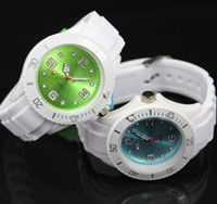 Wholesale Candies Dress Prices - Factory price Colors Faces Silicone Jelly Watch Fashion Children 38MM Candy Quartz watches + 13 colors White Bands very cheaper
