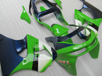 Wholesale kawasaki zx6r fairings 98 - Free ship Green Blue Fairing kit for KAWASAKI Ninja ZX6R 1998 1999 ZX-6R 98-99 ZX6RC 98 99 1998 1999 full fairings kits