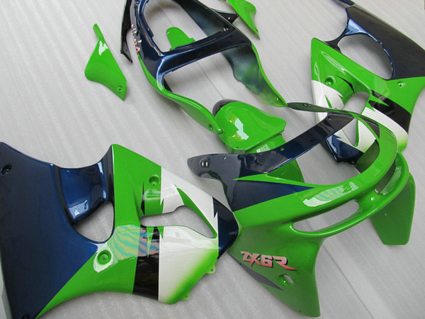 Liberi la nave Kit di carenatura verde blu per KAWASAKI Ninja ZX6R 1998 1999 ZX-6R 98-99 ZX6RC 98 99 1998 1999 carene complete