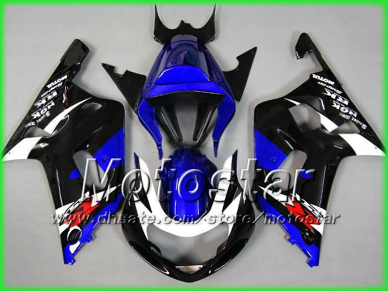 Carénages de moto 7gifts pour SUZUKI GSXR 600 750 K1 2001 2002 2003 GSXR600 GSXR750 01 02 03 R600 R750 carénage bleu noir aa13