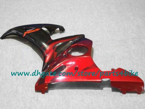 ¡Venta caliente! Kit de trabajo del cuerpo plástico ABS rojo negro para YAMAHA YZF R6 03 04 kit de carenado para YAMAHA YZF-R6 2003 2004 con 7 regalos.