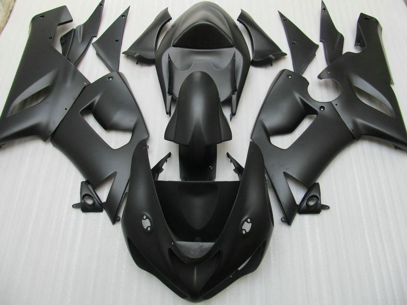 Verkleidungskit für Kawasaki Ninja ZX6R 636 05 06 ZX-6R 2005 2006 ZX 6R mattschwarze Verkleidungskits