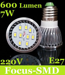 Wholesale Cheapest Cree Led - 2014 Cheapest And Ultra Bright + 150 Angle 9 SMD 5630 7W Led Bulb Light 220-240V E27 Warm Cool White Led Spot Downlight Lamp 600 Lumens