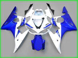 carenado completo r6 Rebajas Carenados de la carrocería blanca azul para yamaha yzf r6 2003 2004 YZFR6 03 04 YZF-R6 kits de carenado completo parabrisas
