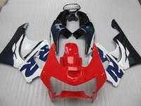 99 honda cbr großhandel-Rot blaues Verkleidungskit für Honda CBR900RR 919 CBR CBR919RR CBR919 1998 1999 98 99 Komplettverkleidungssatz