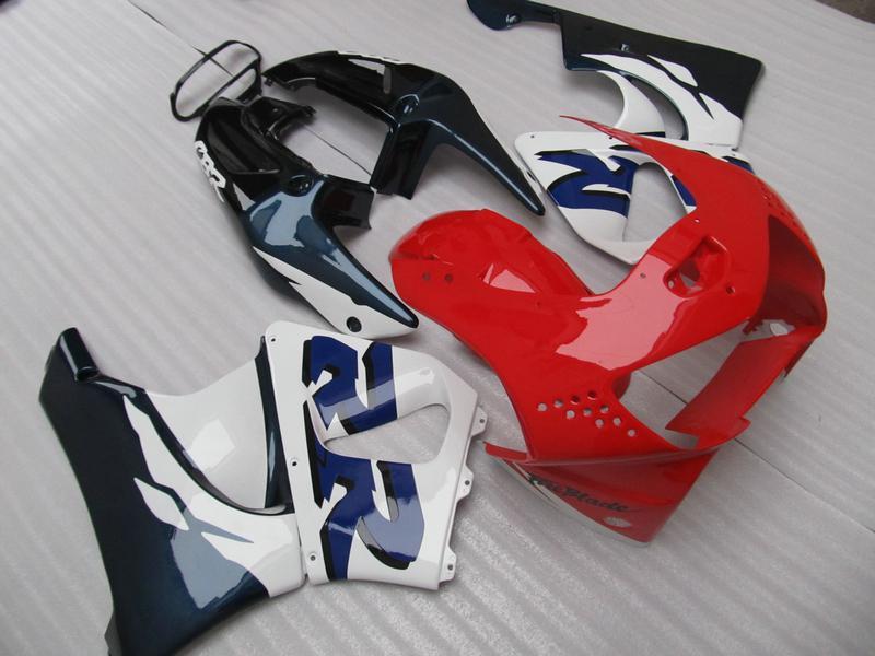 혼다 CBR900RR 용 레드 블루 페어링 키트 919 CBR CBR919RR CBR919 1998 1999 98 99 풀 세트 페어링 키트