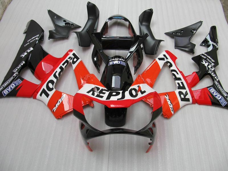ZH618 Moldeo por inyección ABS Careing kit para Honda CBR900RR 929 CBR CBR929RR CBR929 2000 2001 00 01 carenado
