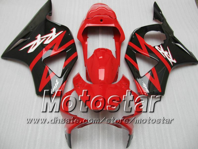 Custom Red Black Backings Kit voor HONDA CBR900RR 954 CBR CBR954RR CBR954 2002 2003 02 03 Motorfietskostenkits