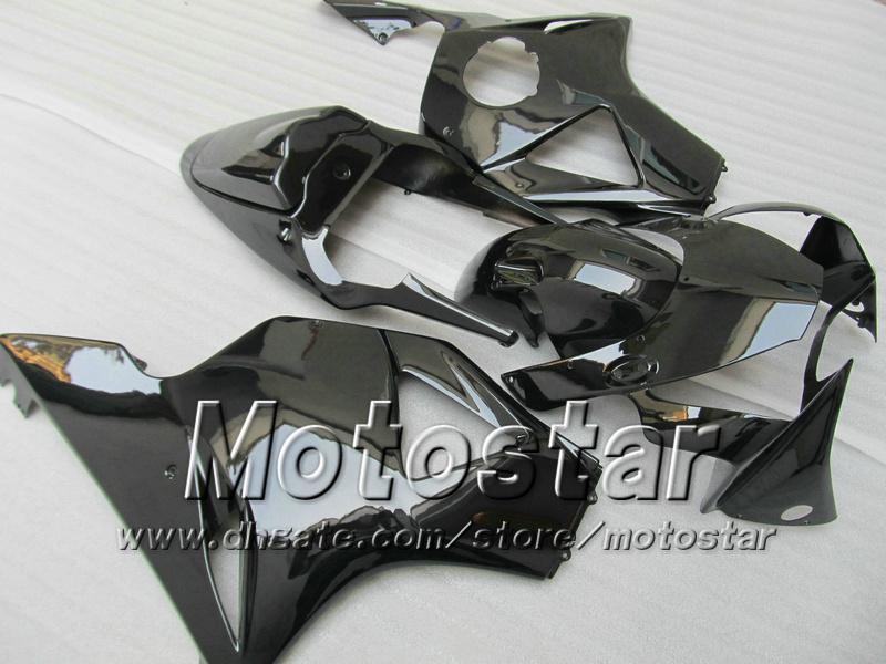 Todo el kit de carenado ABS negro brillante para Honda CBR 900RR 954 CBR 900 RR CBR954RR CBR954 2002 2003 02 03 kits de carenado