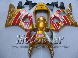 Carenados para honda cbr 954 online-Kit de carenado CASTROL rojo dorado para Honda CBR900RR 954 CBR900 CBR 954RR CBR954 2002 2003 02 03 kits de carenado para moto cbr 900rr