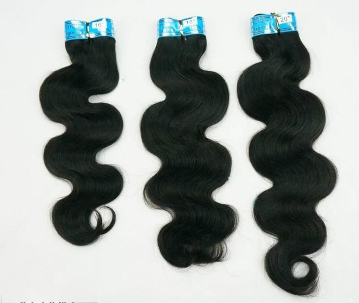 10% de réduction cheveux humains armure malaisienne vierge de cheveux vague de corps extensions de cheveux 4a catégorie 3 faisceaux / épais mélange longueur dhl expédition rapide