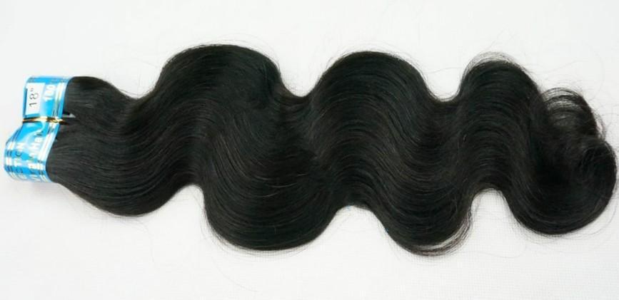 10% KORTING Menselijk Haar Weave Braziliaanse Virgin Haar Body Wave Hair Extensions 4A Grade 3 -5 bundels / partij Dikke Mix Lengte DHL GRATIS