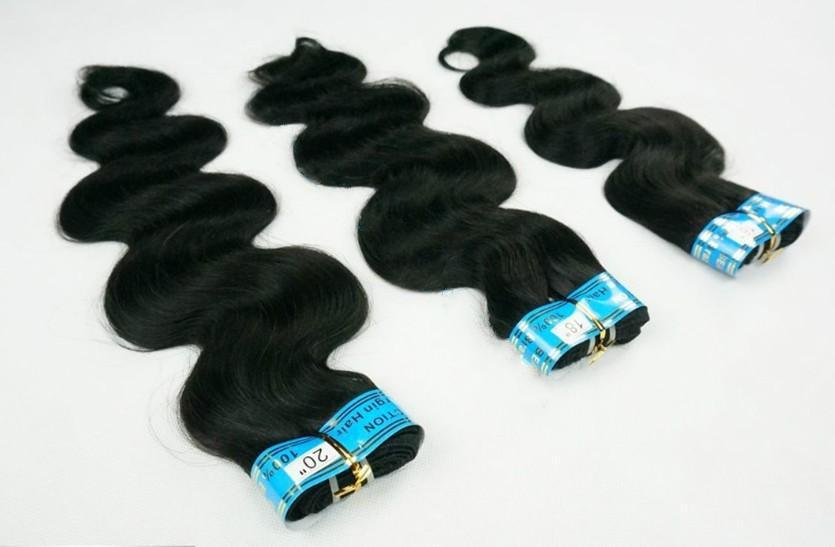 10% de Desconto Humano Weave 100% Europeu remy virgem extensão do cabelo trama humana comprimento mix 12-28 polegada # 1B onda do corpo 100g / pacotes DHL livre