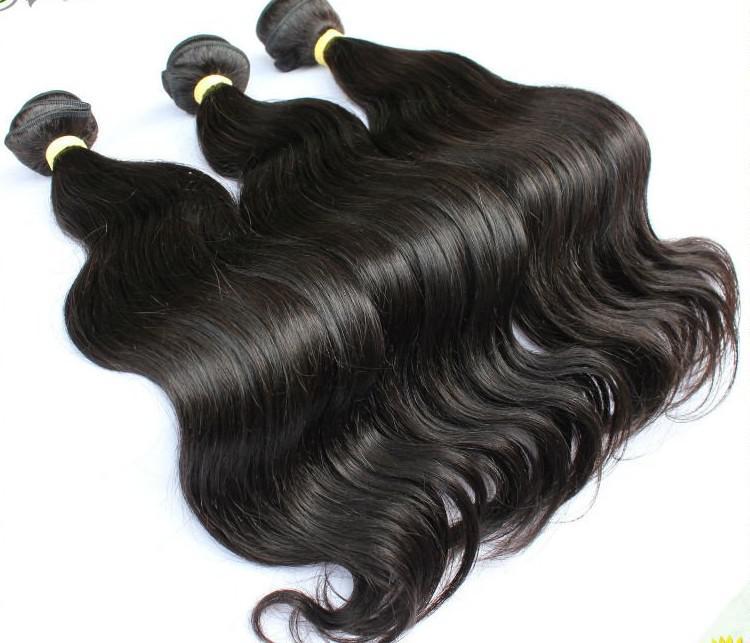 100% Indian virgin Remy human hair weft hair weave  free mix length #1b hair weaving EMS DHL free