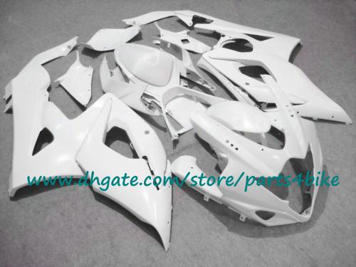 ABS kit de plástico da motocicleta para carenagem SUZUKI GSX-R1000 K5 2005 2006 todos os kit de carenagem branco brilhante 04 05 GSXR1000 kits de corpo com 7 presentes