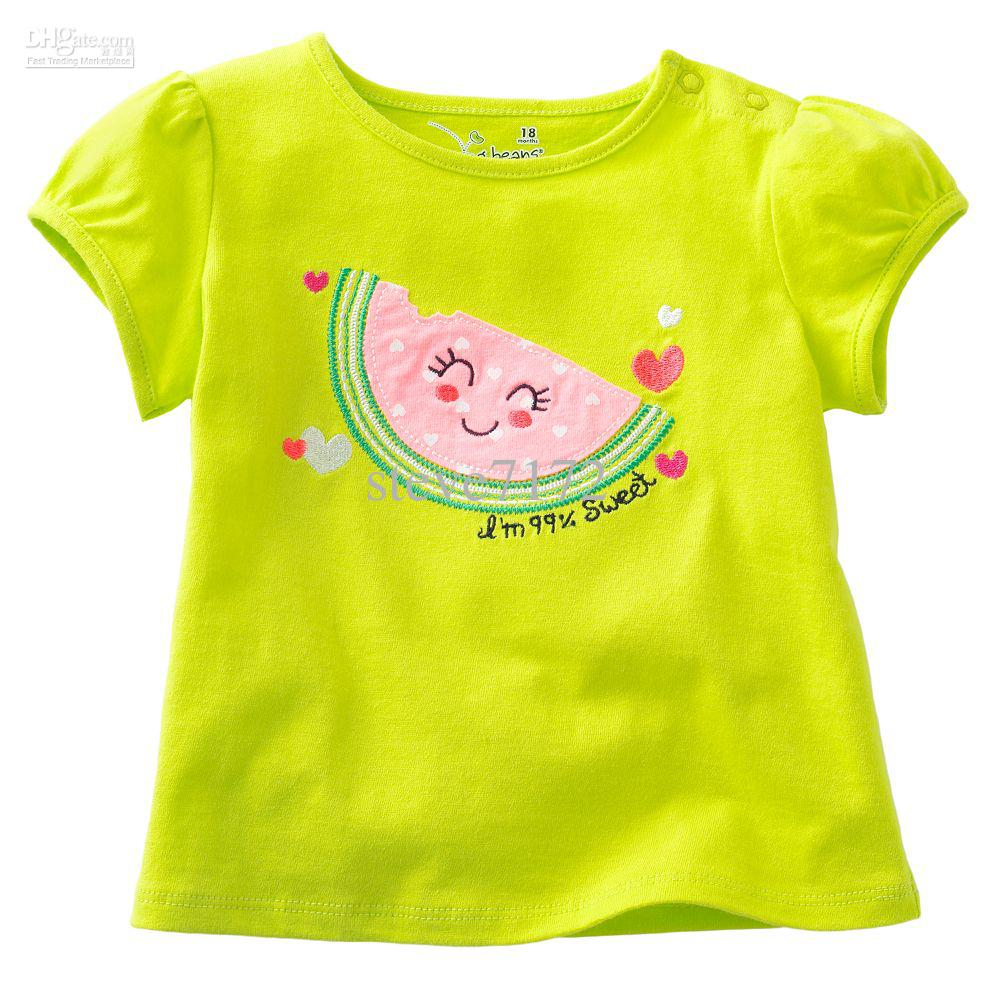 Hot Sale Girl's T-shirts Cute Baby Tees Shirts Shorts Boy ...