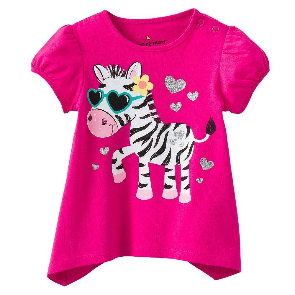 2018 Girls T Shirts Baby Tees Shirts Zebra Tank Tops Short Sleeve Girl Clothes Cotton Blouses ...