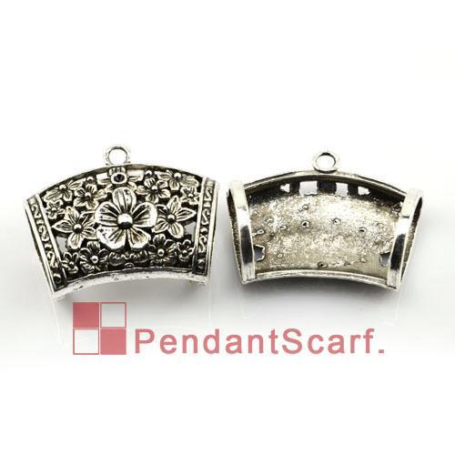 / Top popolare collana pendente gioielli sciarpa risultati in lega di zinco fascino fiore design diapositive tubo, trasporto libero, AC0138A