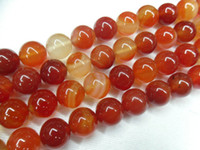 Wholesale Red Carnelian Beads - Red Carnelian Agate Round Loose Beads Semi-precious Stone 8MM for fashion JEWELRY making 10 strands per lot Free Shipping
