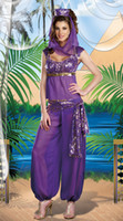 Wholesale Sexy Lingerie Dancers - Sexy LINGERIE Belly Dancer Arabian Princess Jasmine Halloween Costume ms6536 size 8-12