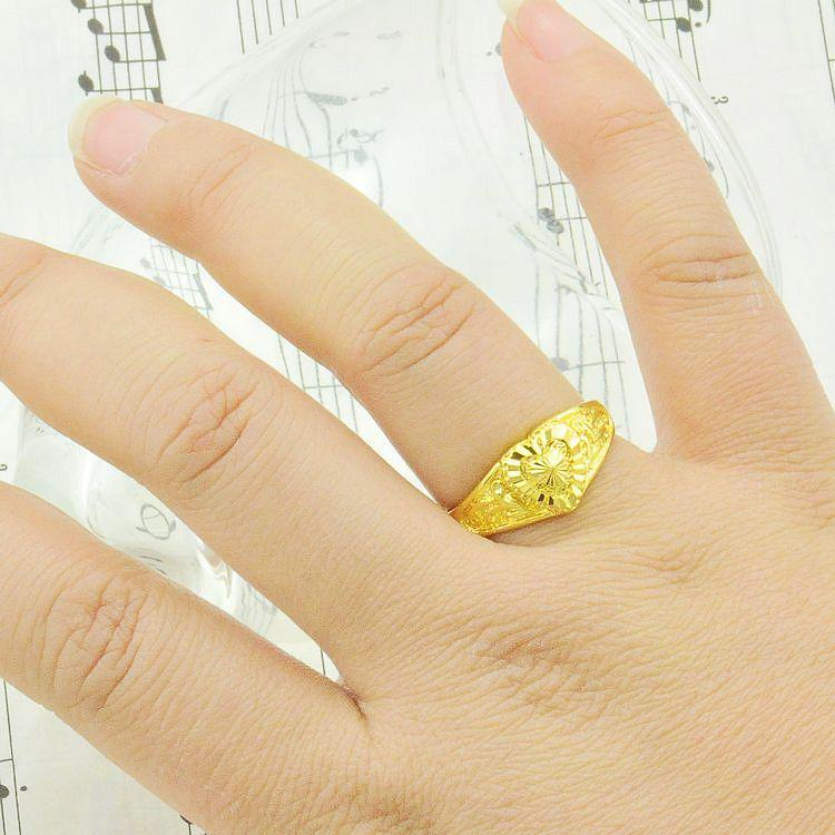 wedding product rings wild women fashion shaped gold heart normal eventually fade plated becoming ring white