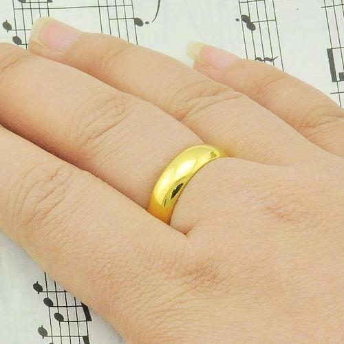 Minimalist Glossy Men S Gold Ring Opening Ring Finger Ring Couple