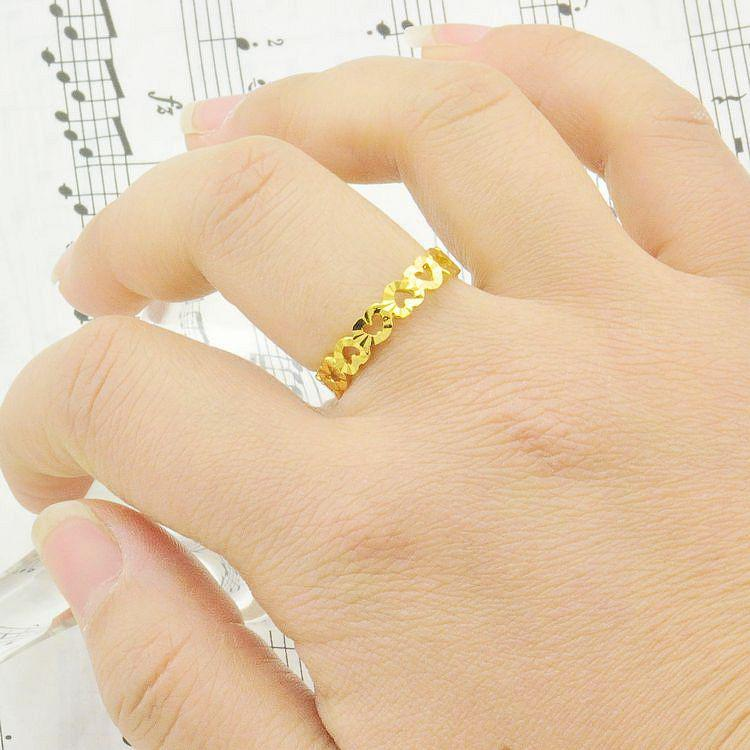 24k Gold Plated Heart Ring Women Rings Gold Rings Gold Plated Heart