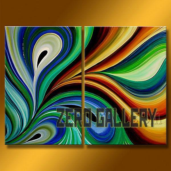 2018 Hand Painted Abstract Colorful Oil Painting On Western Canvas