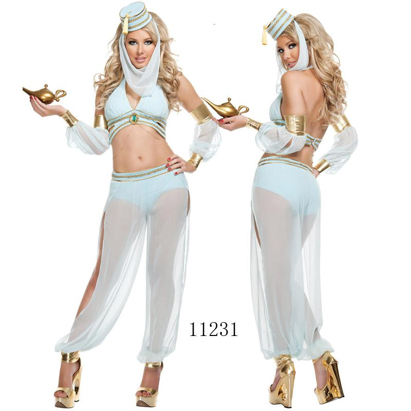 sexy lingerie belly dancer arabian princess jasmine halloween costume ms11231 size 8 12 best costume party themes halloween costume for 4 people from - Halloween Naughty Costumes
